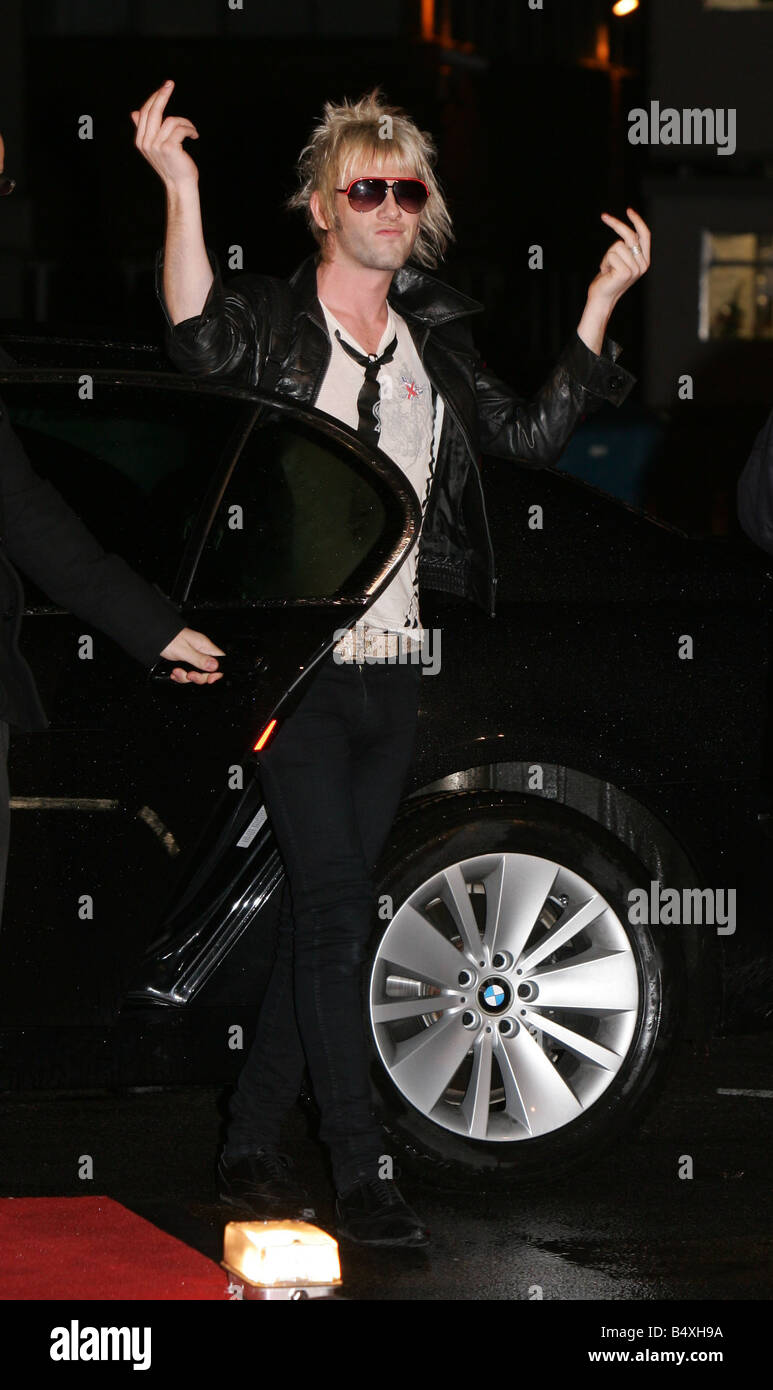Donny Tourette from the band Towers of London enters the Celebrity Big Brother house 3rd January 2007 - Stock Image