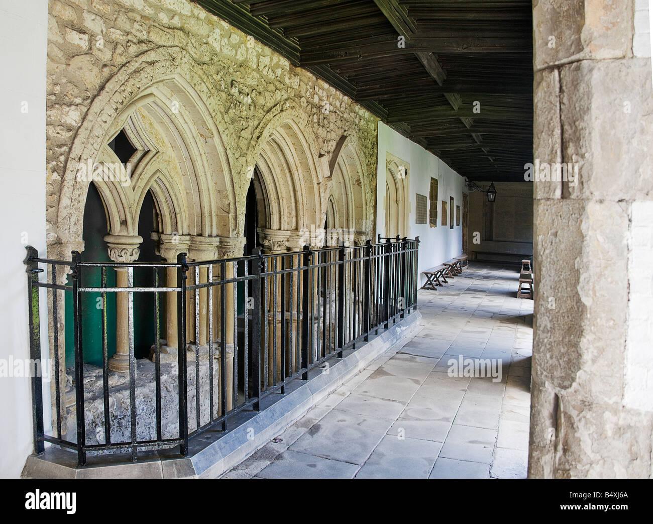Cloister court. Jesus College Cambridge. - Stock Image