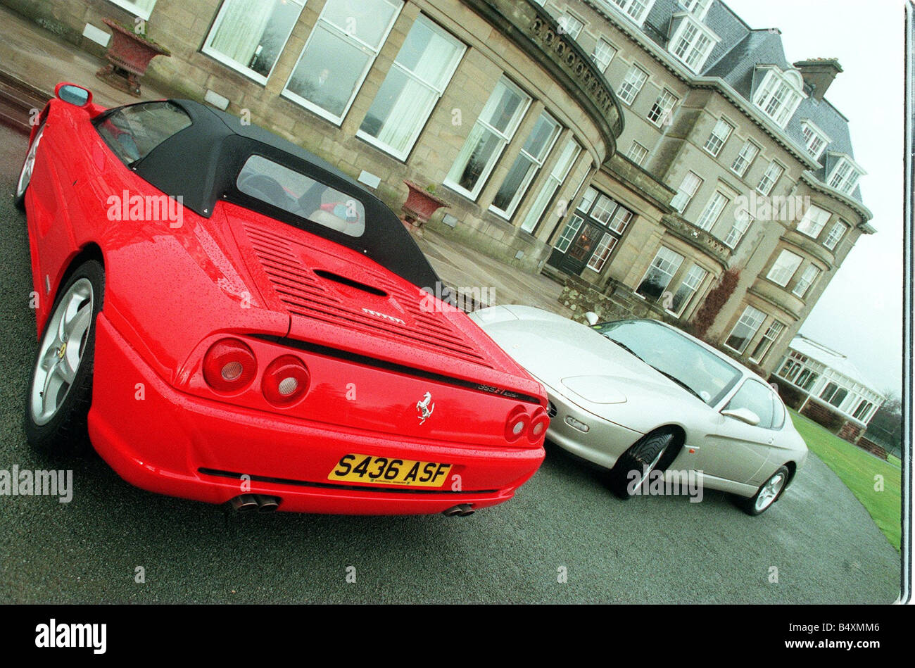 Ferrari Cars Lineup At The Gleneagles Hotel Pictured Are The 355 FI Spider  Red A 456 Gold And The 550 Maranello Silver