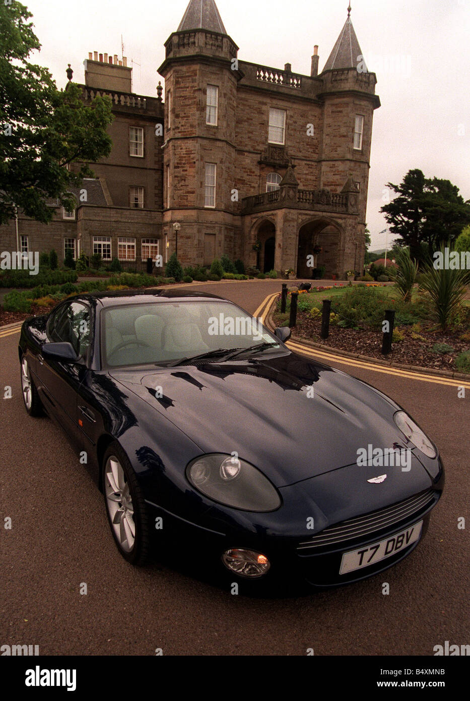 The Aston Martin V12 Vantage Pictured At Dalmahoy Hotel Near Stock