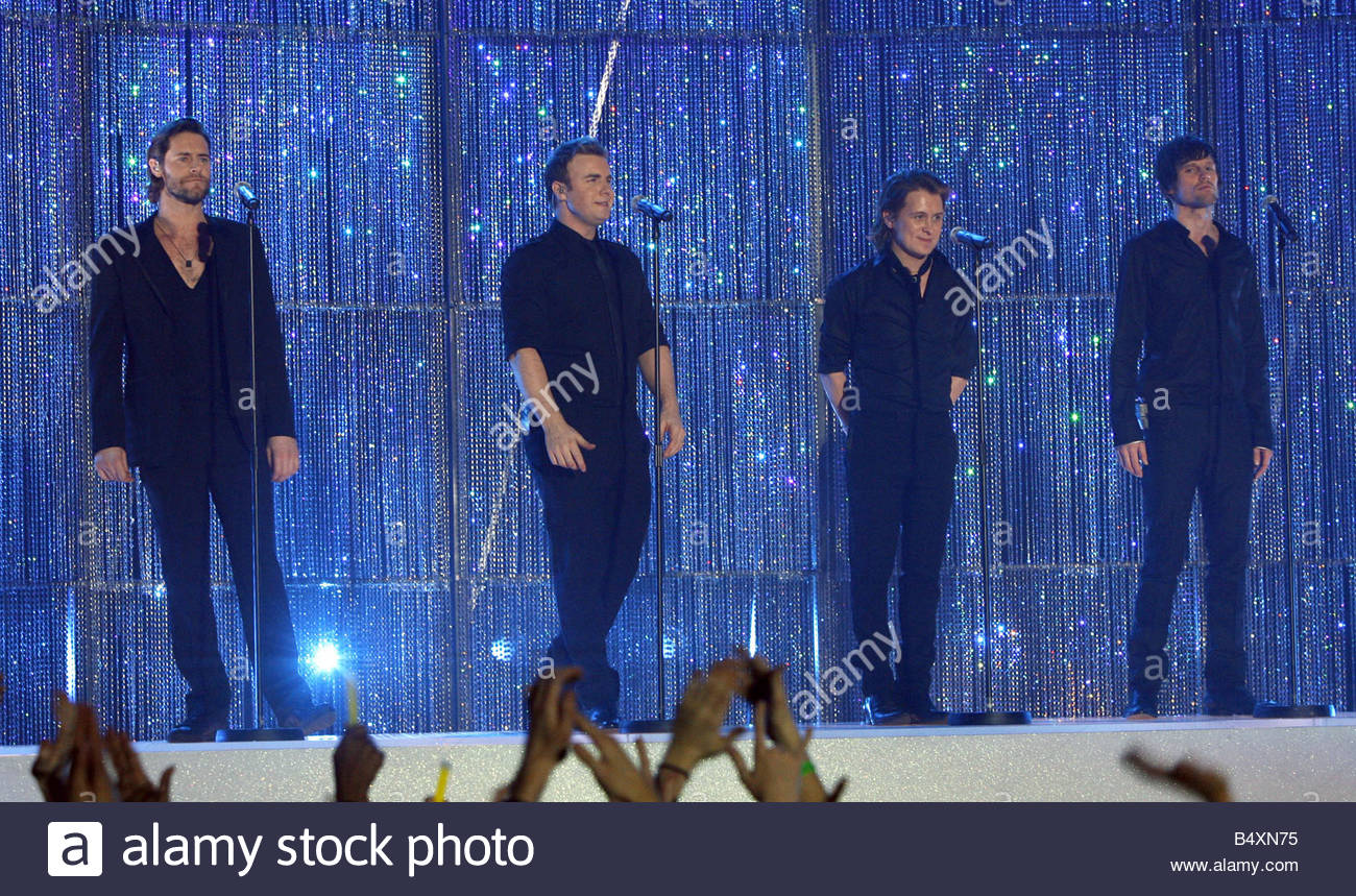 The 2007 Brit Awards with Mastercard from London s Earls Court on Valentines Day 14th February 2007 Take That 2007 - Stock Image