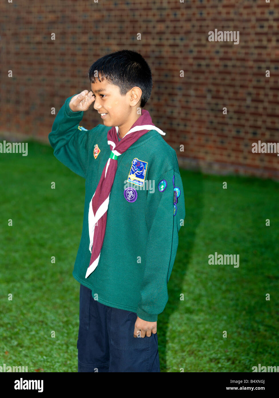 Cub Scout In Uniform with Badges Stock Photo: 20256674 - Alamy