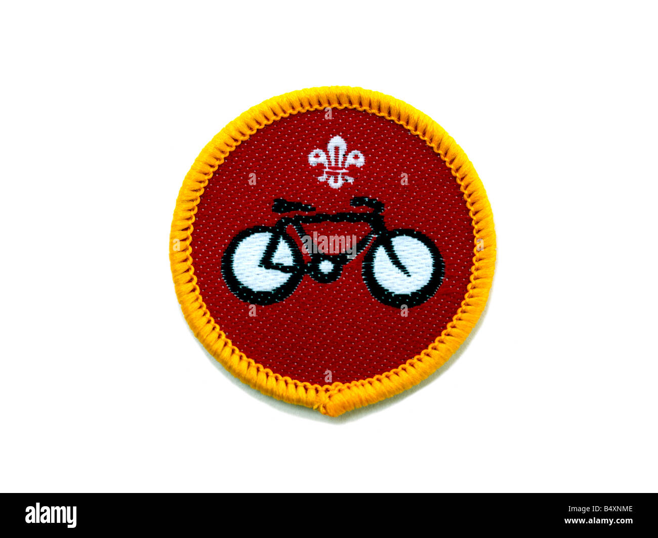 Cyclist Cub Badge - Stock Image