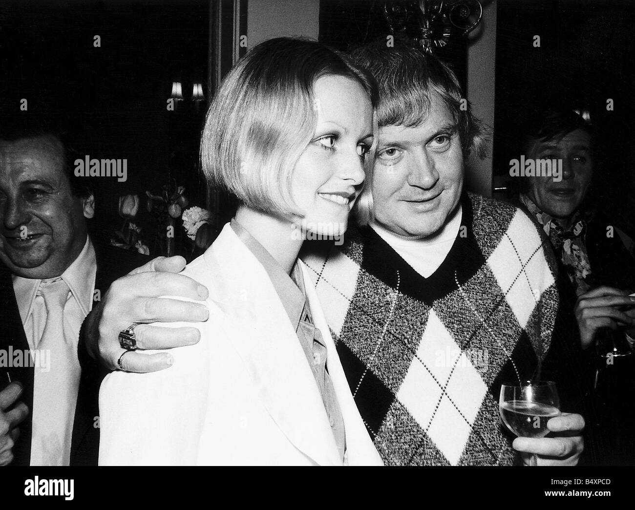Ken Russell director and model Twiggy at a reception in London to give details of his film version of the musical - Stock Image