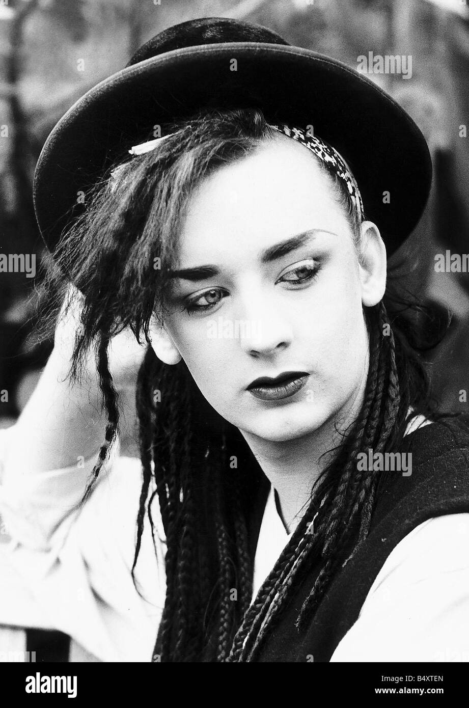 Boy George lead singer of pop group Culture Club - Stock Image