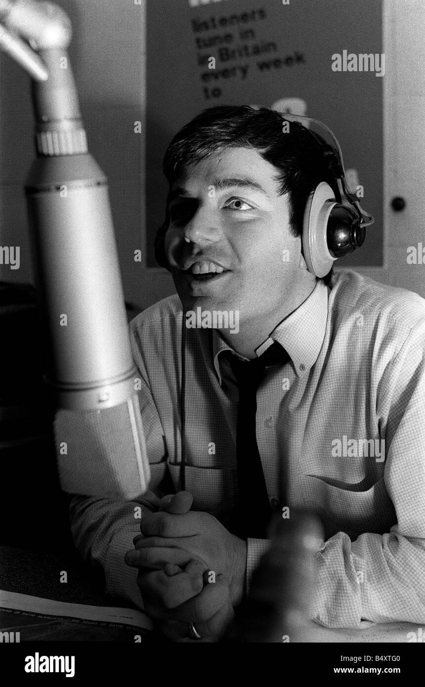 Tony Blackburn launches BBC Radio One 1967 - Stock Image