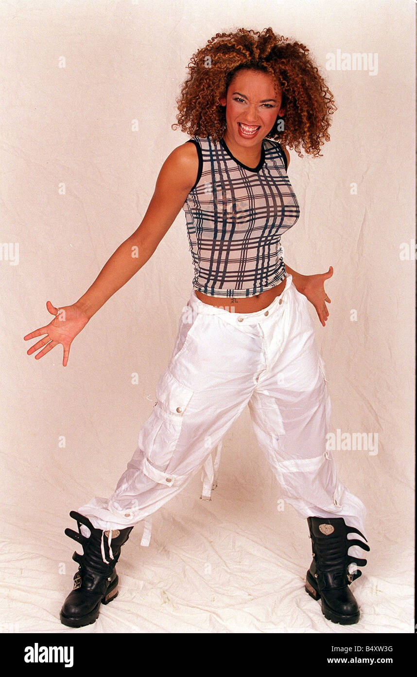 Mel B singer with the all woman pop group Spice Girls Stock Photo