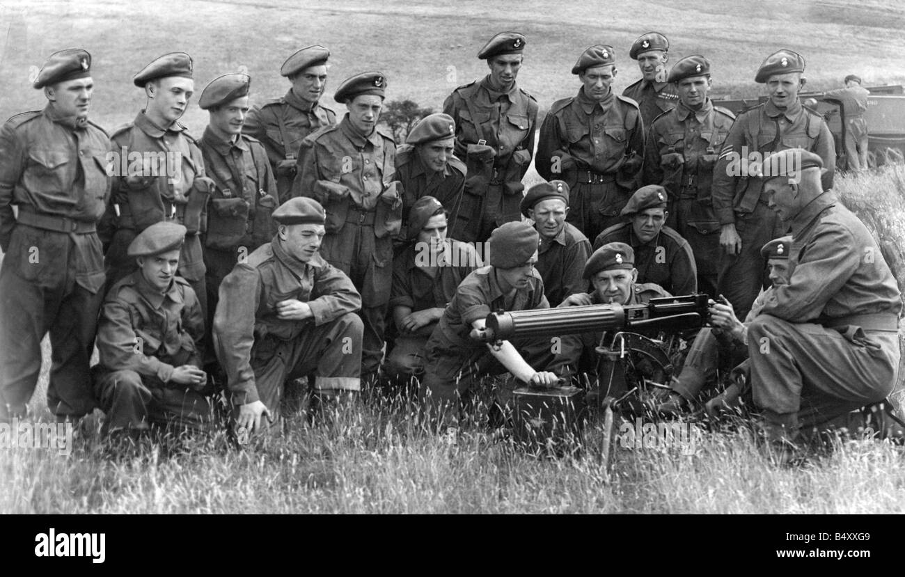 Territorials of the Royal Northumberland Fusiliers and D I I at present in camp at Stobs Camp near Hawick receiving - Stock Image
