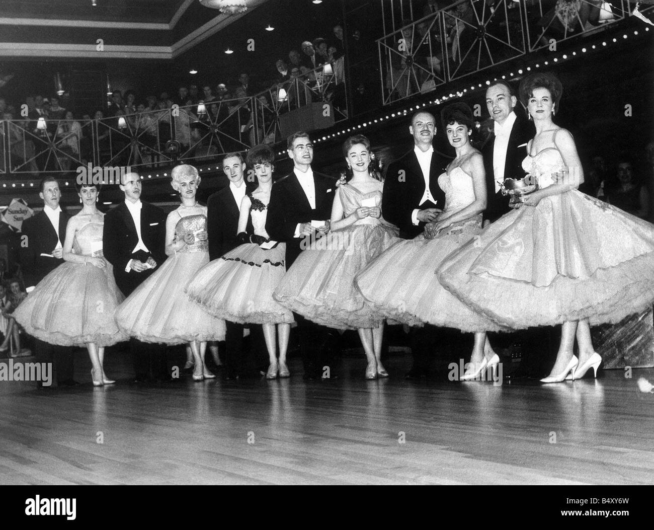 Competitors in the Evening Chronicle Sunday Sun Dance championships at the Mayfair Newcastle 1963 - Stock Image