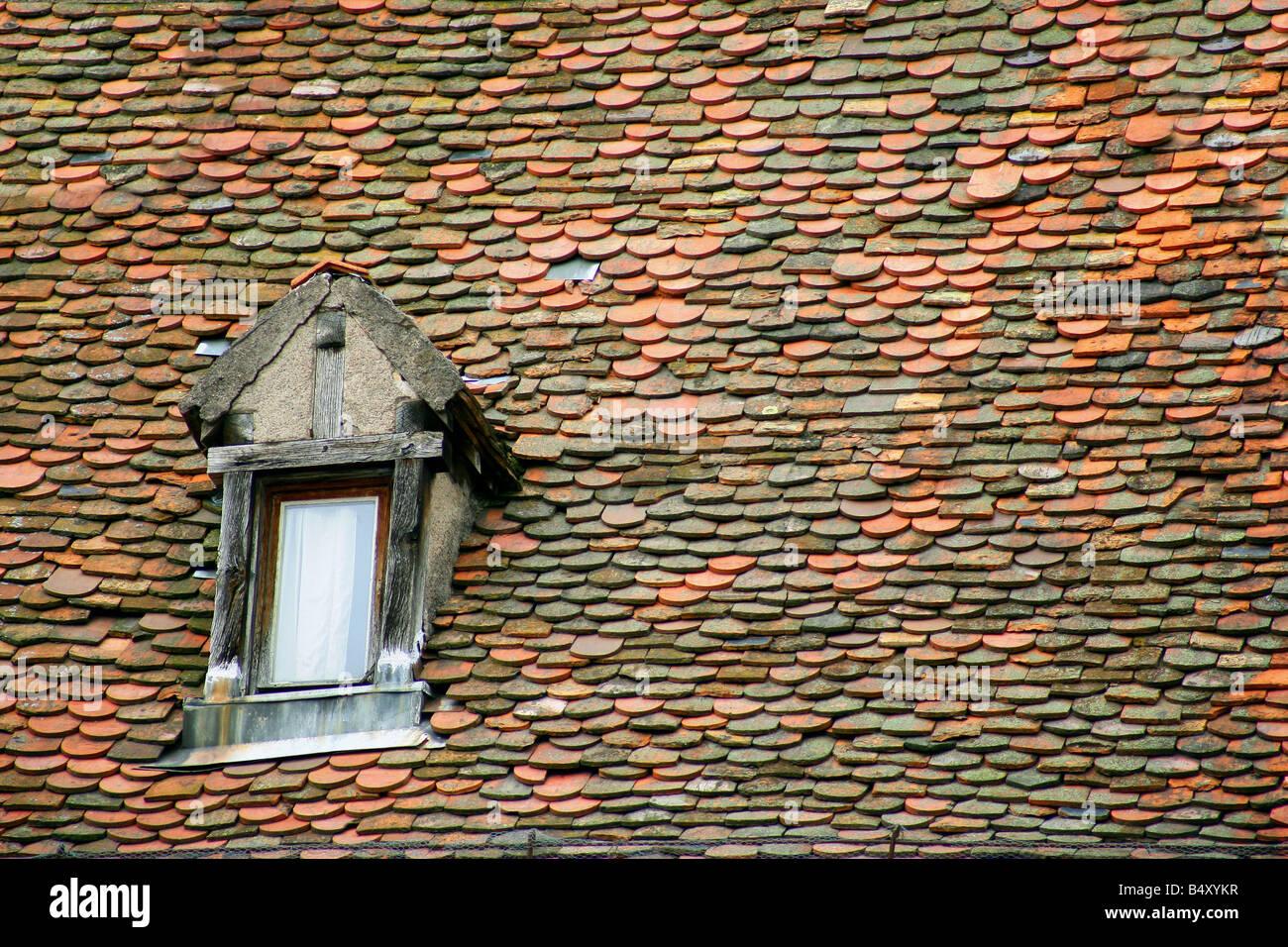 Dormer window on roof, full frame Stock Photo: 20261467 - Alamy