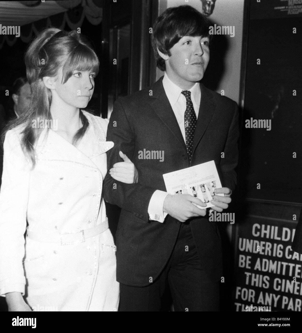 Paul McCartney March 1966 With Jane Asher