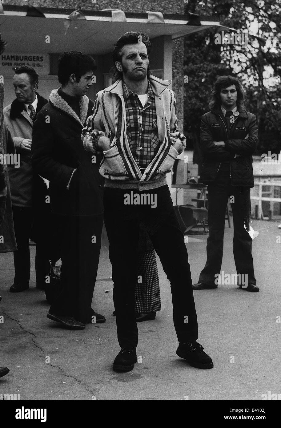 The Beatles Drummer Ringo Starr Oct 1972 Dressed In Late 50 S Teddy Boy Style To Make His Latest Film That Ll Be Day