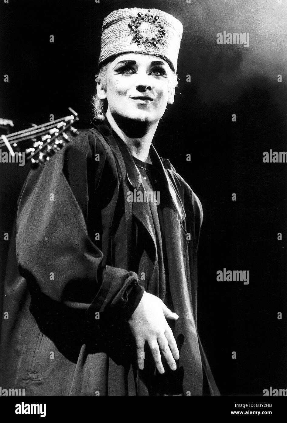 Boy George pop star Singer with Culture Club - Stock Image