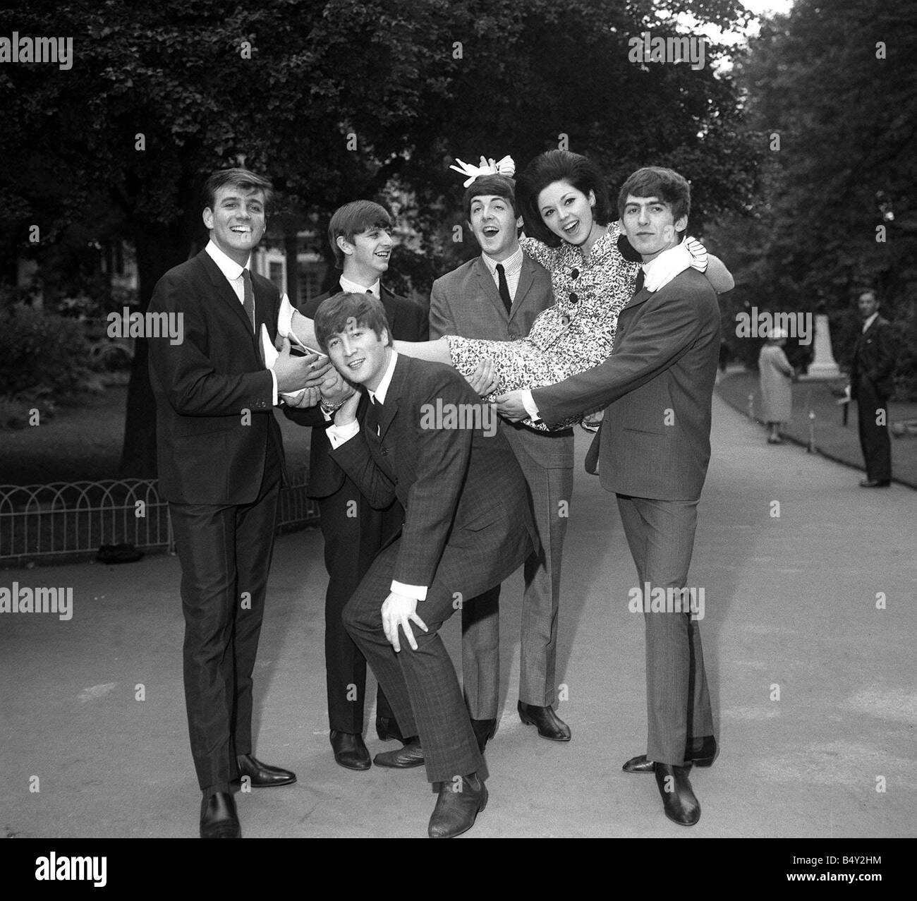 Pop Group The Beatles September 1963 John Lennon Paul McCartney Ringo Starr  George Harrison Variety Club Luncheon 1963 The Beatles with Billy J Kramer  and ...