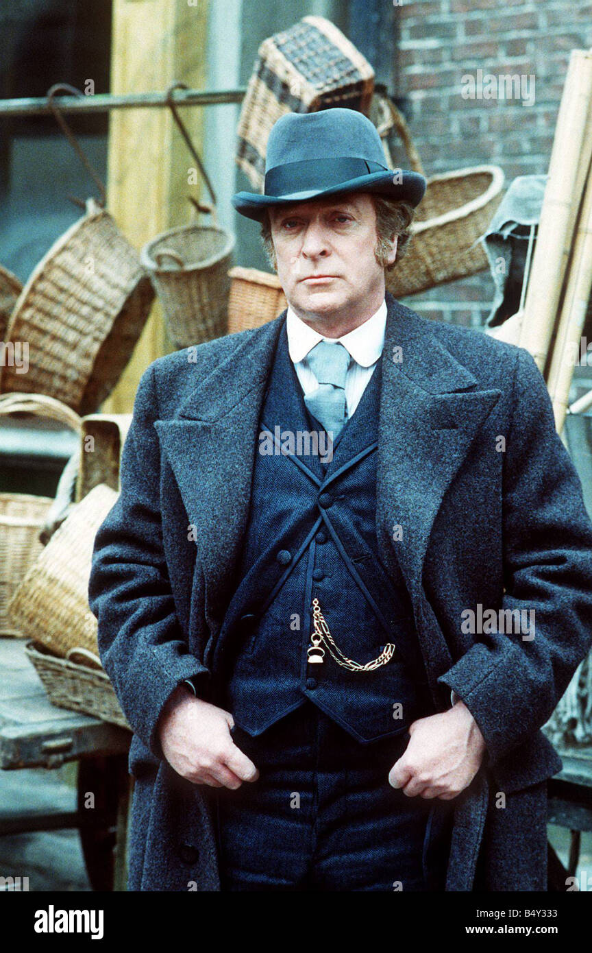 Michael Caine in the film Jack the ripper playing the part of Inspector fred abberline Stock Photo