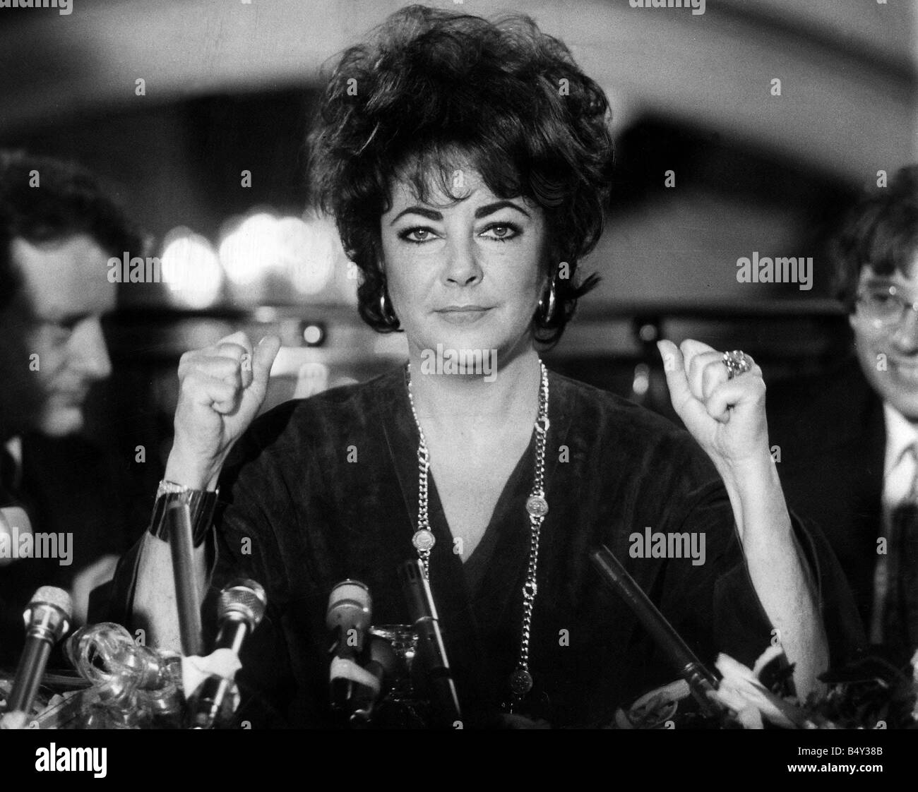 Liz Taylora Press conference 1982 - Stock Image