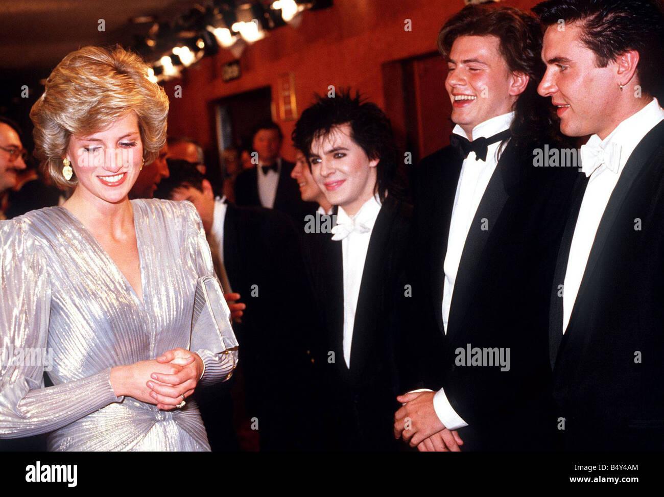 Diana Princess Of Wales Rose Princess Diana Meets Nick Rhodes John Taylor And Simon Le
