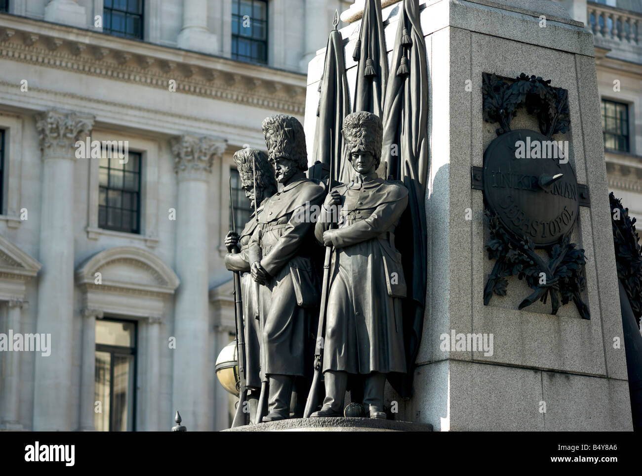 The Guards Monument of 1859 commerating the 22,162 guardsmen who died in the Crimean War set in London UK - Stock Image