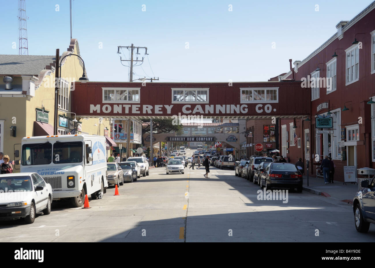 Cannery Row, Monterey California, made famous by novelist John Steinbeck. Now a tourist area. - Stock Image