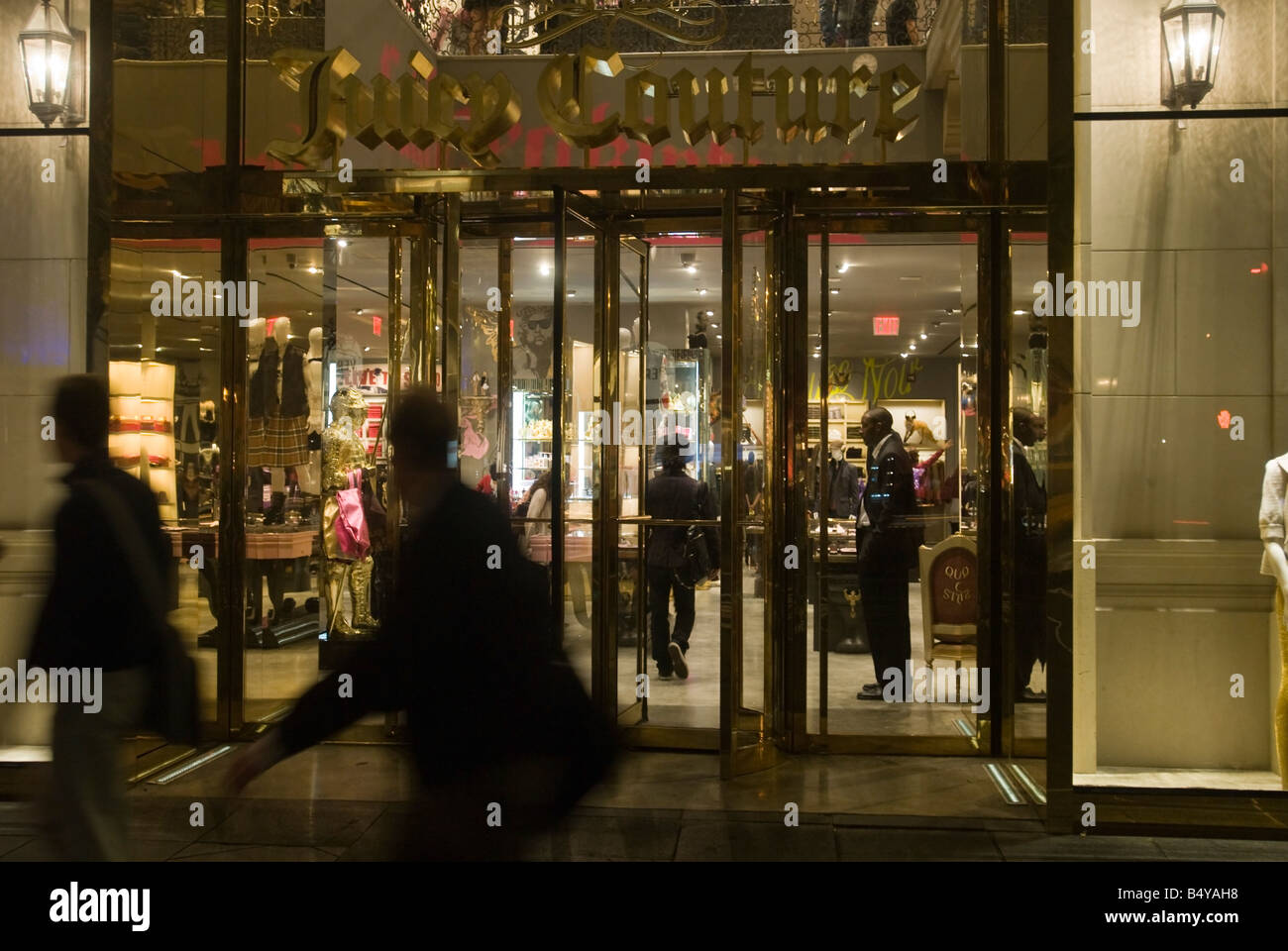 The entrance to the Juicy Couture store on Fifth Avenue in Midtown Manhattan in New York - Stock Image