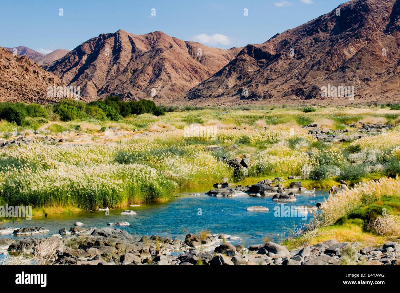 Oranje River, landscape, Richtersveld National Park, Northern Cape, South Africa - Stock Image