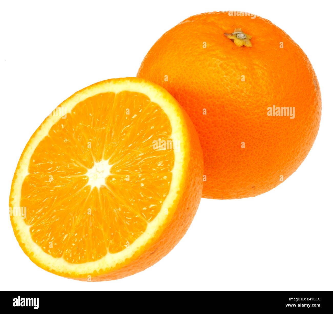 ORANGES CUT OUT - Stock Image