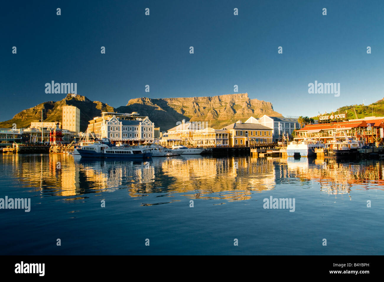Waterfront, Table Mountain, Cape Town, Western Cape, South Africa - Stock Image