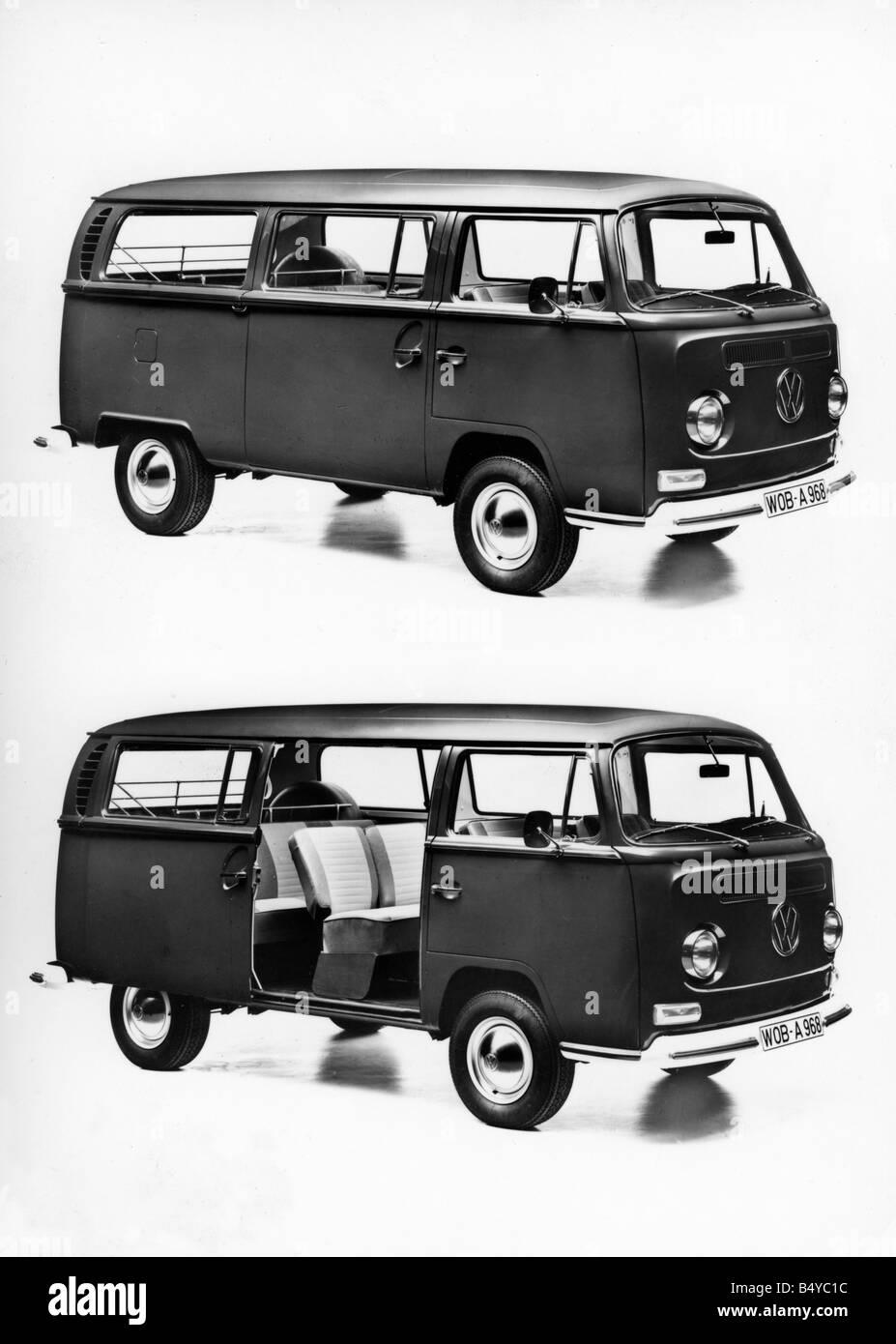 transport / transportation, car, vehicle variants, Volkswagen, VW Type 2, Transporter, side view of T2, Germany, - Stock Image