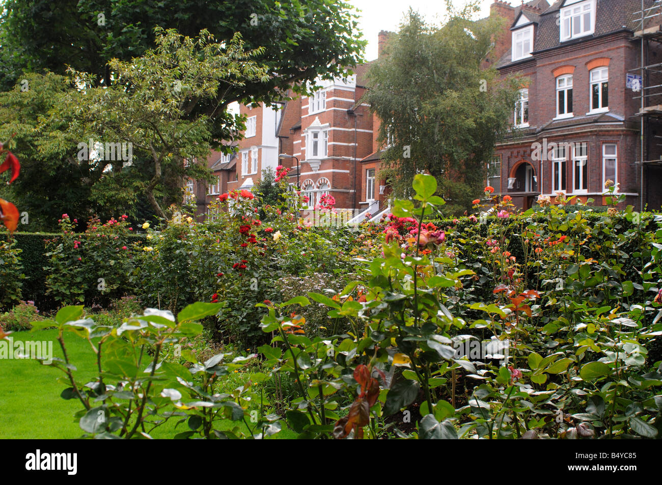 Front garden of the Freud's Museum in London - Stock Image