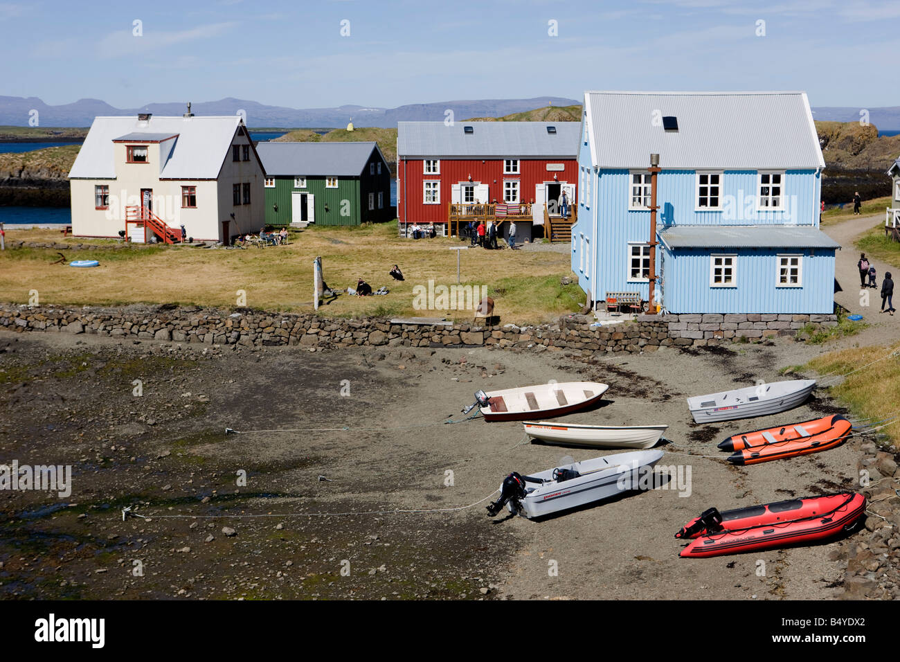 From the island Flatey in Breidafjordur Iceland - Stock Image