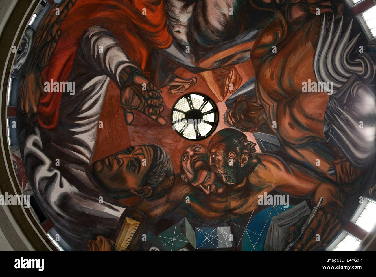Mural by Jose Clemente Orozco in the University of