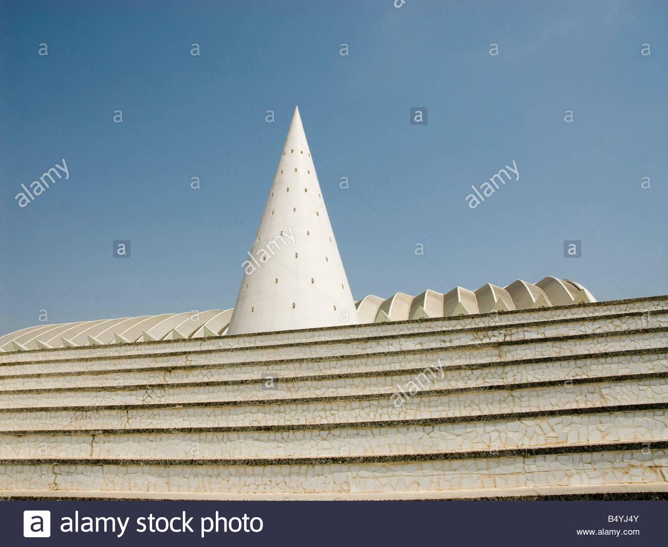 europe,spain,valencia,ciutat de les arts i les ciencies,architect santiago calatrava - Stock Image