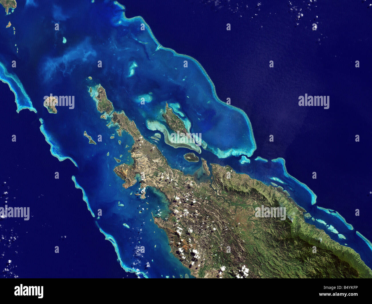 Lagoons and Coral Reefs of New Caledonia - Stock Image