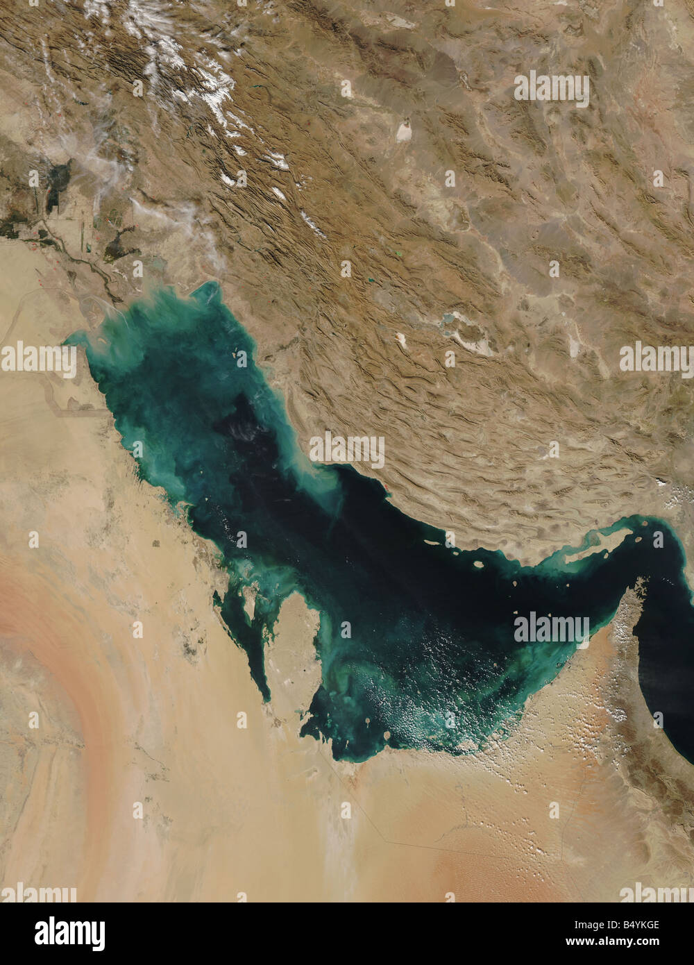 Satellite view of the Persian Gulf - Stock Image