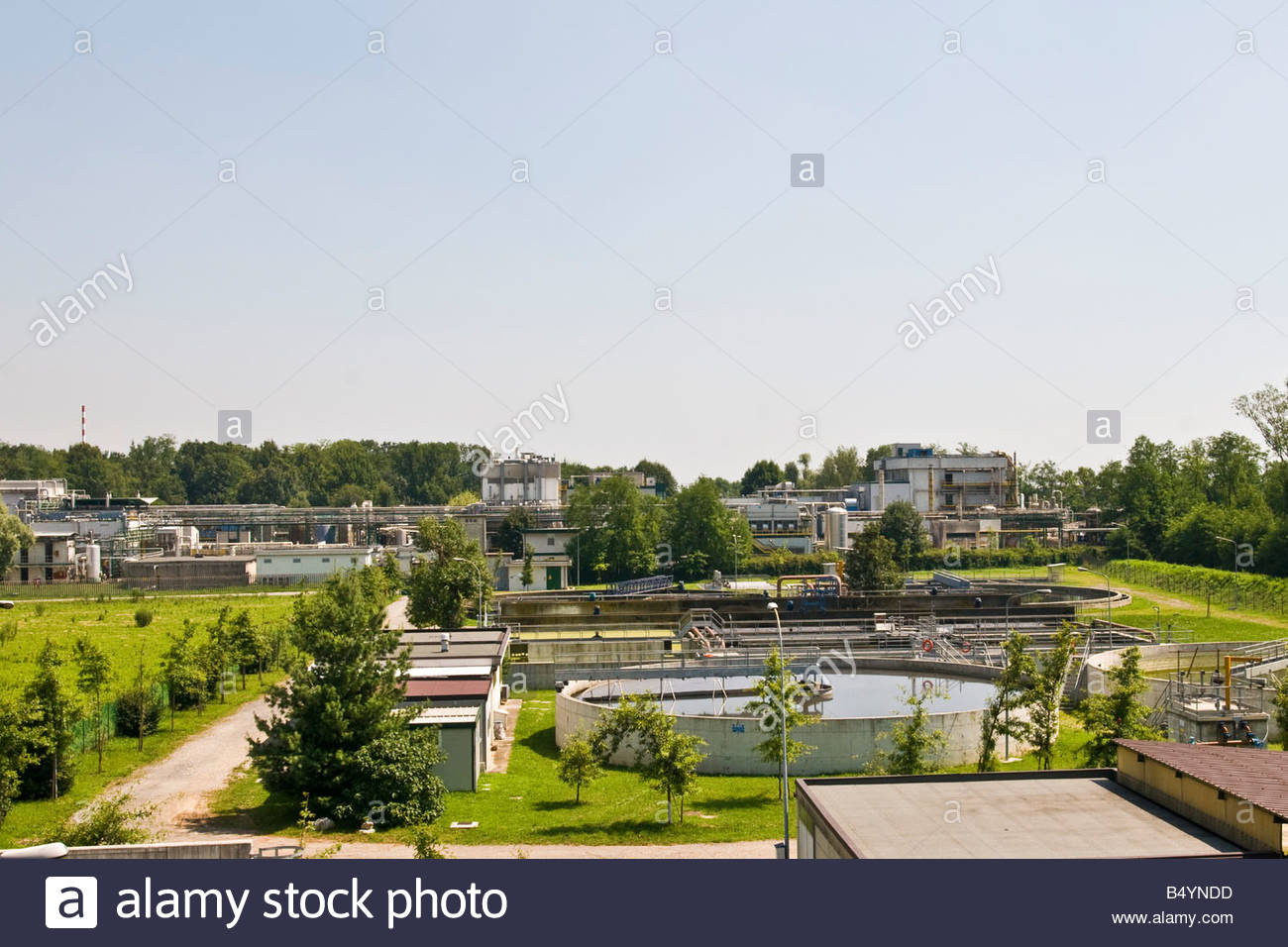 purification water plant,origgio,lombardia,italy - Stock Image