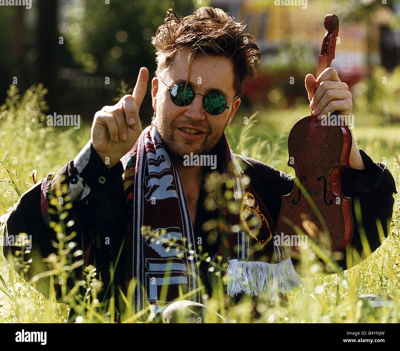 Nigel Kennedy the violinist - Stock Image