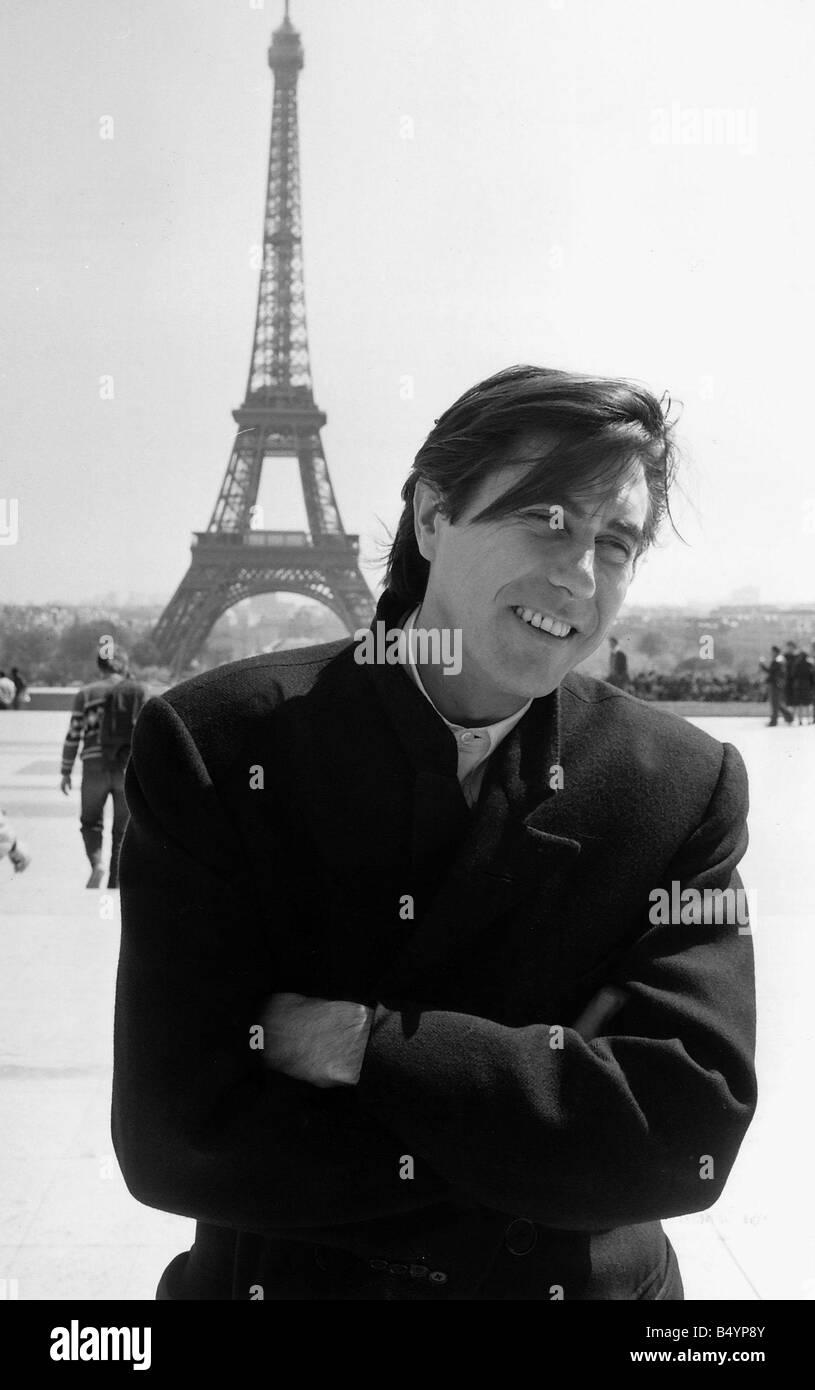 Bryan Ferry pop singer in Paris 1985gqmagazineusa gqmagazineusa gqmagazineusa gqmagazineusa - Stock Image