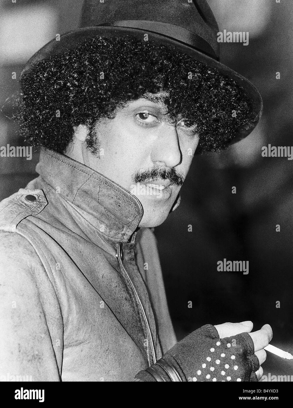 Phil Lynott lead singer of pop group Thin Lizzy - Stock Image