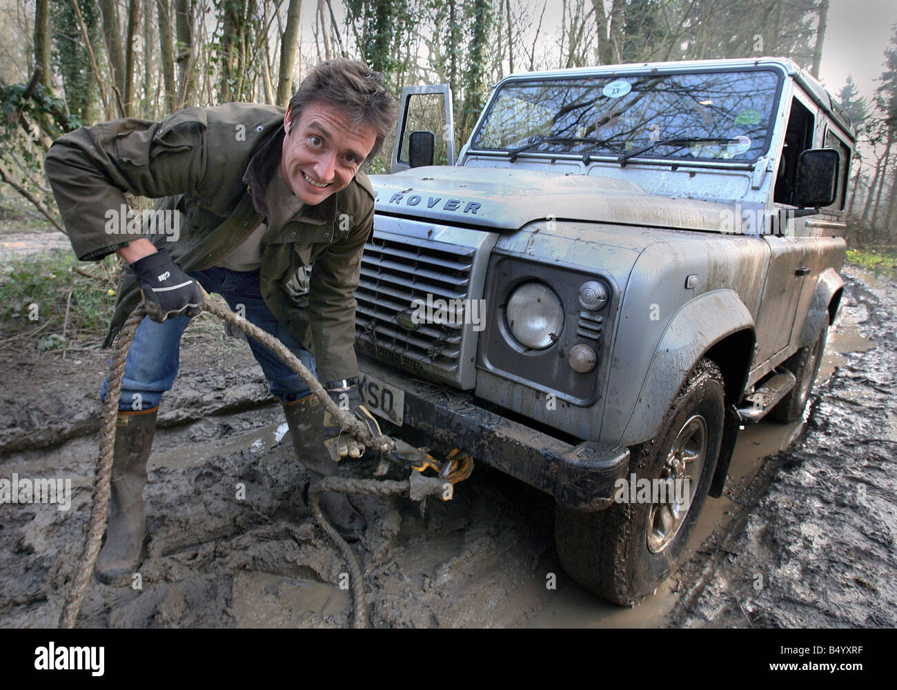 28 3 07 Richard Hammond road tests the new Land Rover Defender and