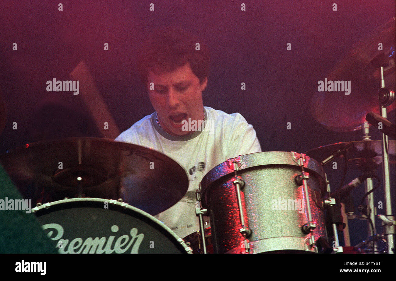 Drummer from Stereophonics on stage at T in the Park July 1999 - Stock Image