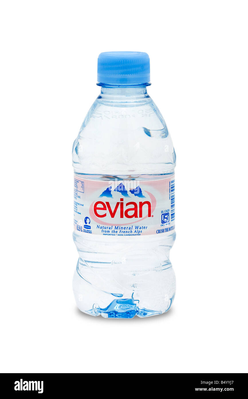 evian natural mineral water from the french alps - Stock Image