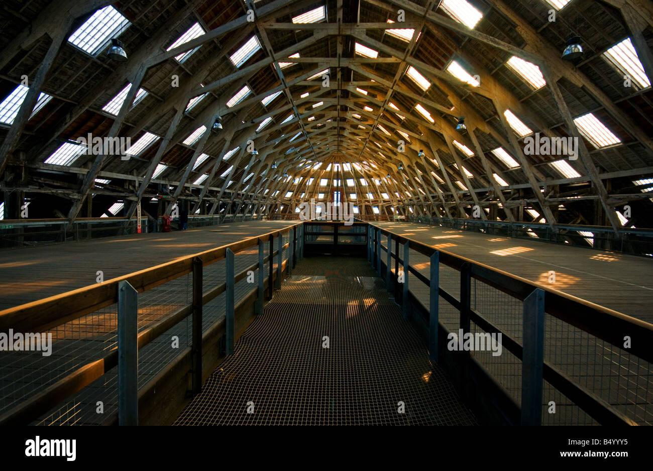 No 3 Slip Cover Chatham Historic Dockyard in Kent. - Stock Image
