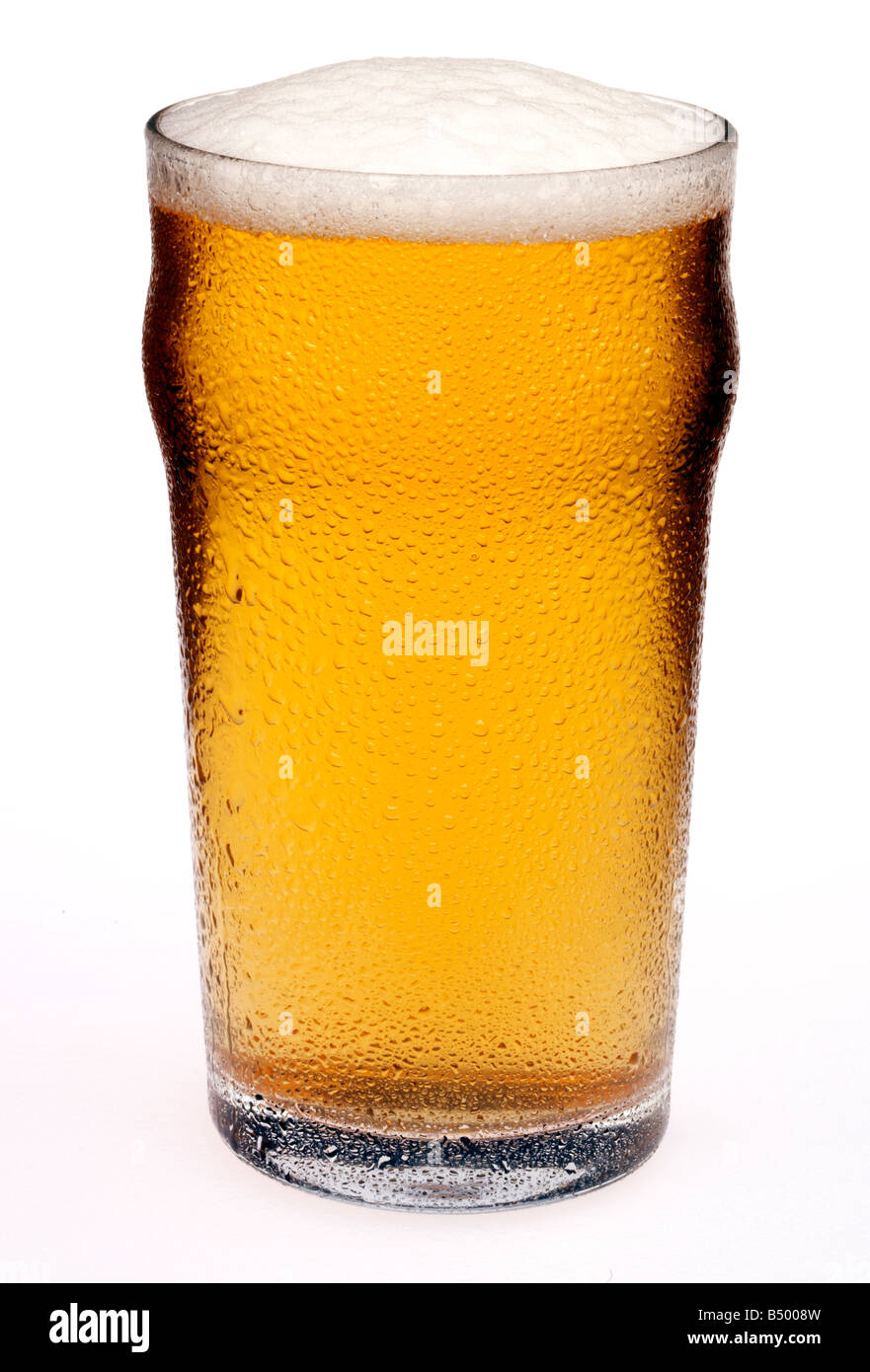 PINT OF BEER CUT OUT - Stock Image