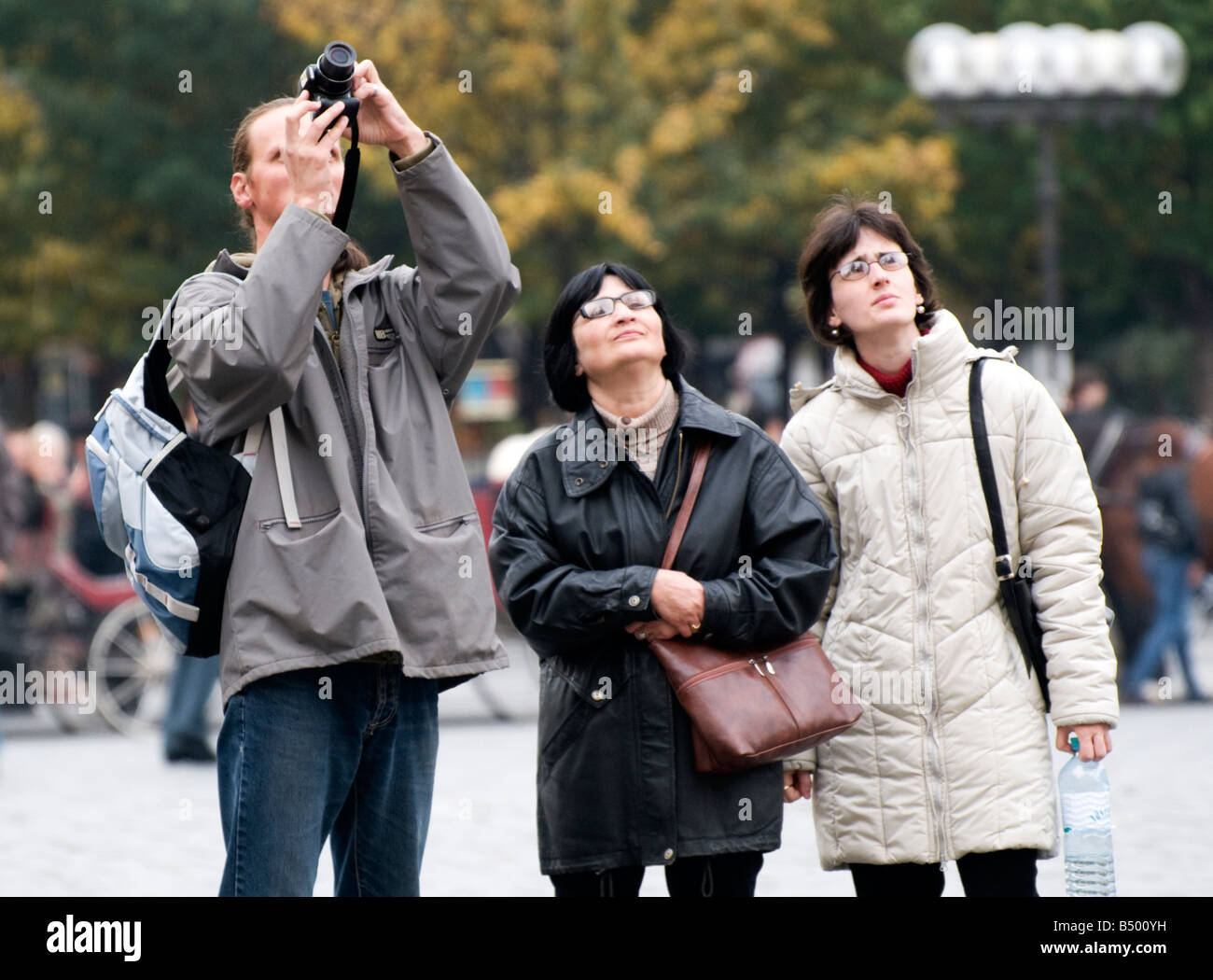 Prague Tourists and Tourism in the Old Town Square FOR EDITORIAL USE ONLY - Stock Image