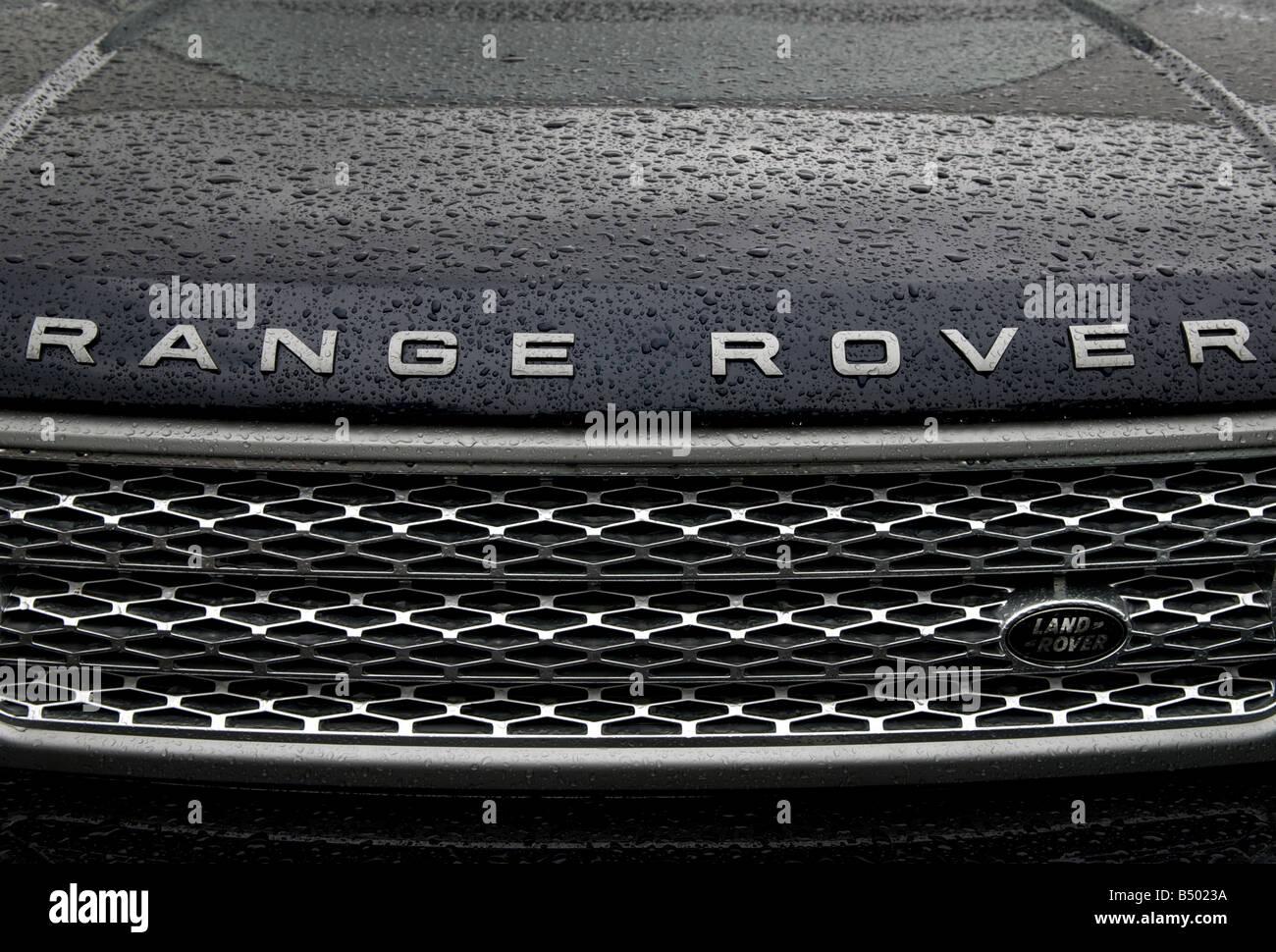 Third generation Range Rover 4x4 car, Ipswich, Suffolk, UK. - Stock Image