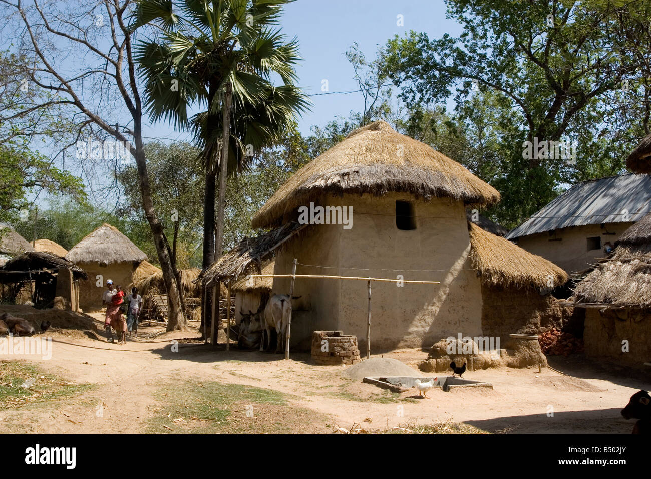 Earthen house at a remote village of West Bengal,India Stock