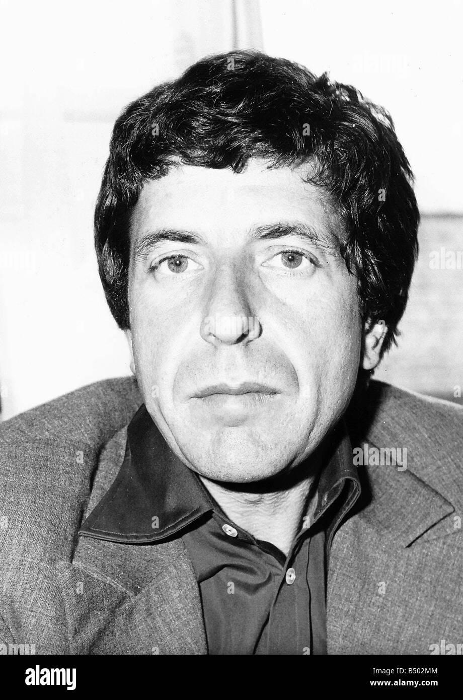 Leonard Cohen American Singer Songwriter Poet - Stock Image