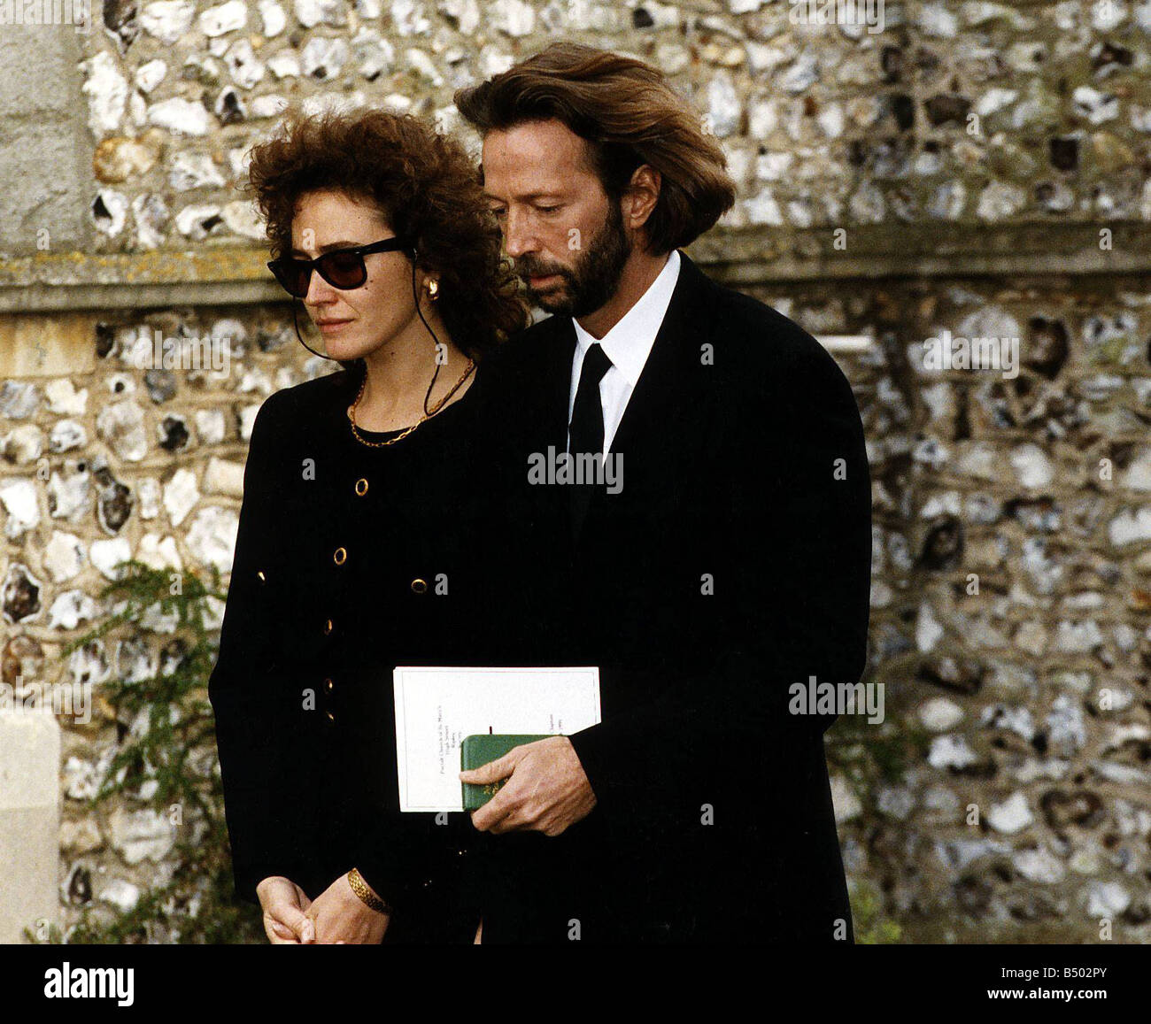 eric clapton singer with mother of his son lori dal santo at the stock photo 20285859 alamy. Black Bedroom Furniture Sets. Home Design Ideas