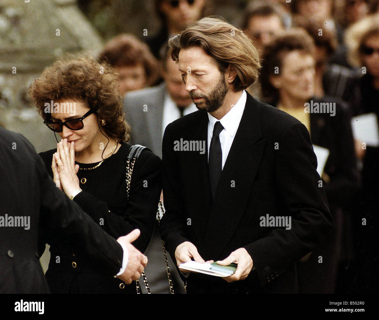 eric clapton singer with the mother of his son lori dal santo at the stock photo 20285860 alamy. Black Bedroom Furniture Sets. Home Design Ideas