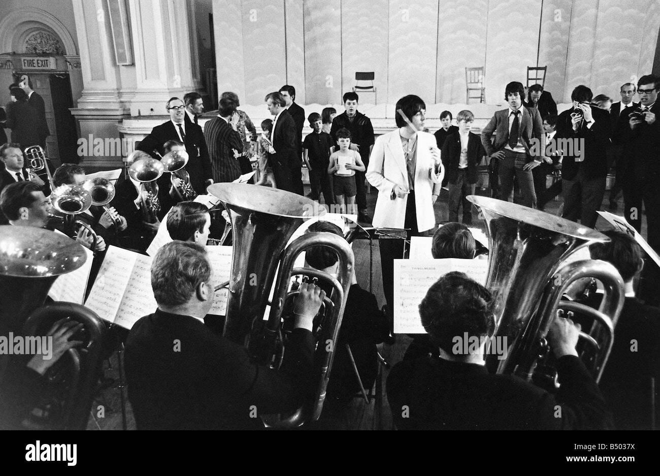 Beatles files 1968 Paul McCartney conducts the Black Dyke